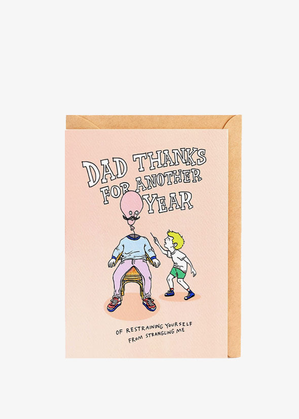 Restrained Dad Card
