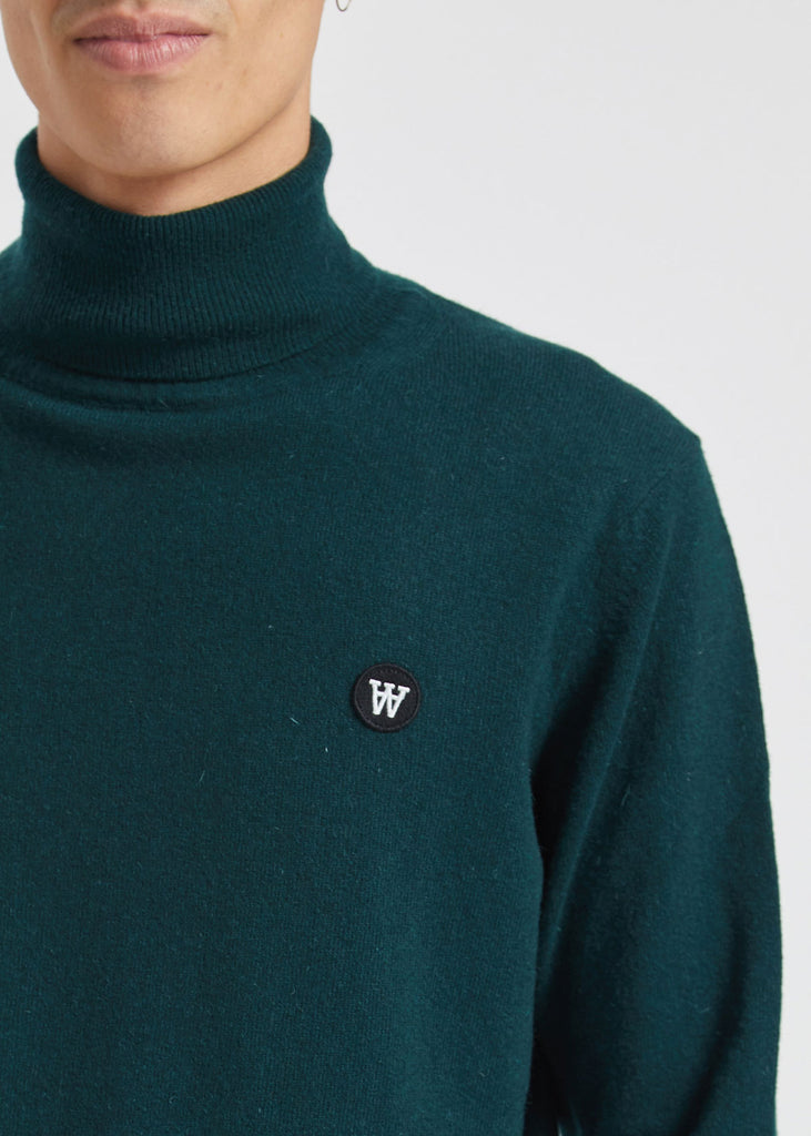 Ira Turtleneck Sweater Dark Green