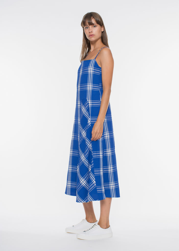Aida Dress Blue Check