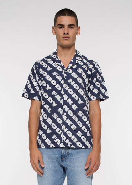 Brandon Shirt Navy Nosome