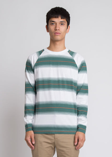 Han Long Sleeve Tee Bright White Stripe