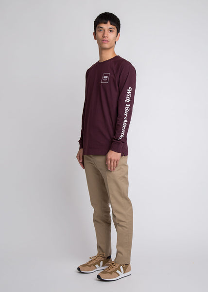Han Long Sleeve Tee Burgundy