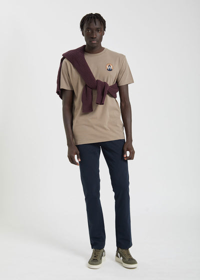 Patch T-Shirt Taupe