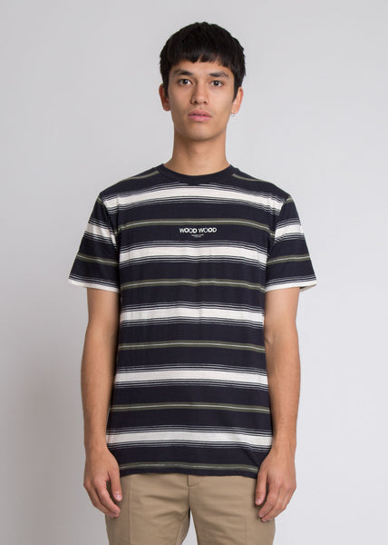 Perry T-Shirt Navy Stripe