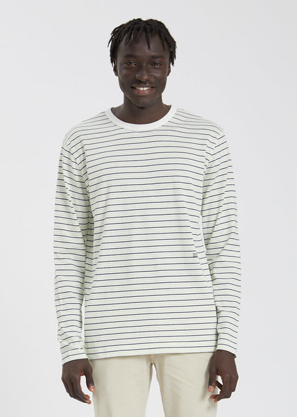 Viggo Long Sleeve Off White Stripe