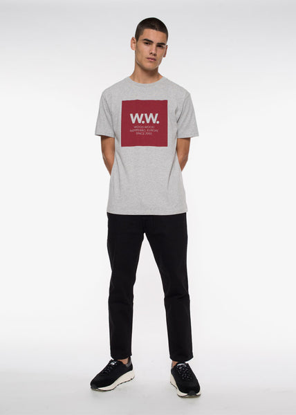 WW Square Tee Grey Melange