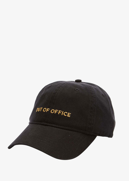 Low Profile Out of Office Cap Black