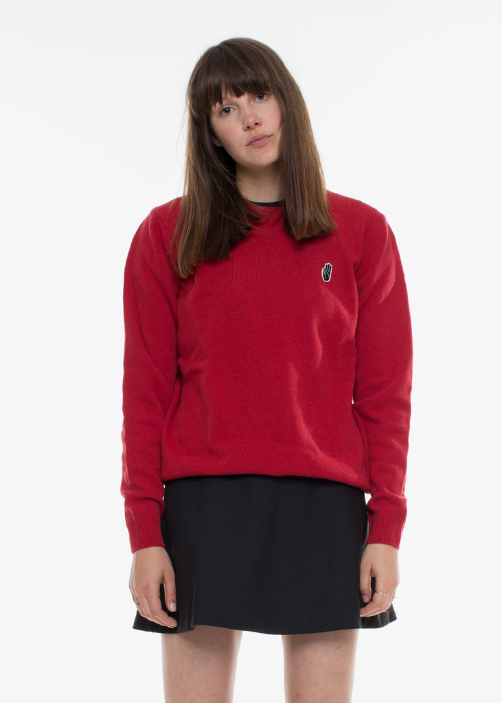 Yale Sweater Red