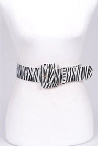Zebra Wrap Belt