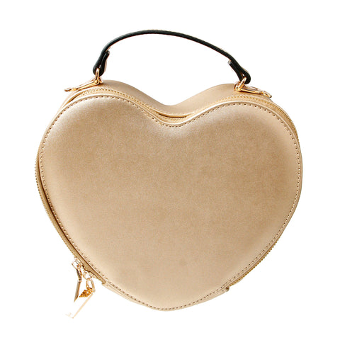 Gold Heart Crossbody Bag