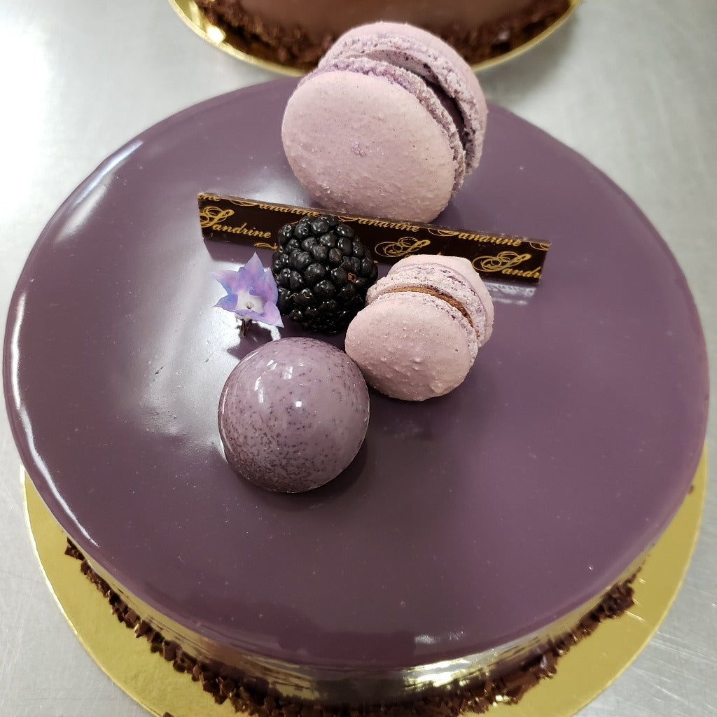 CASSIS-VIOLET CHEESECAKE