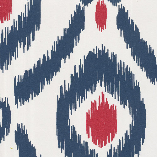 Ikat in Navy and Cherry