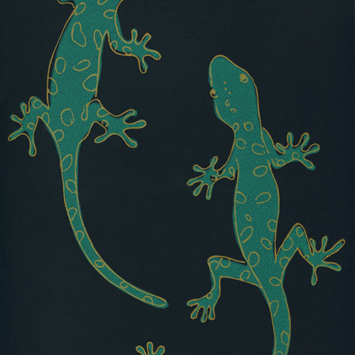 Gecko in Midnight Green