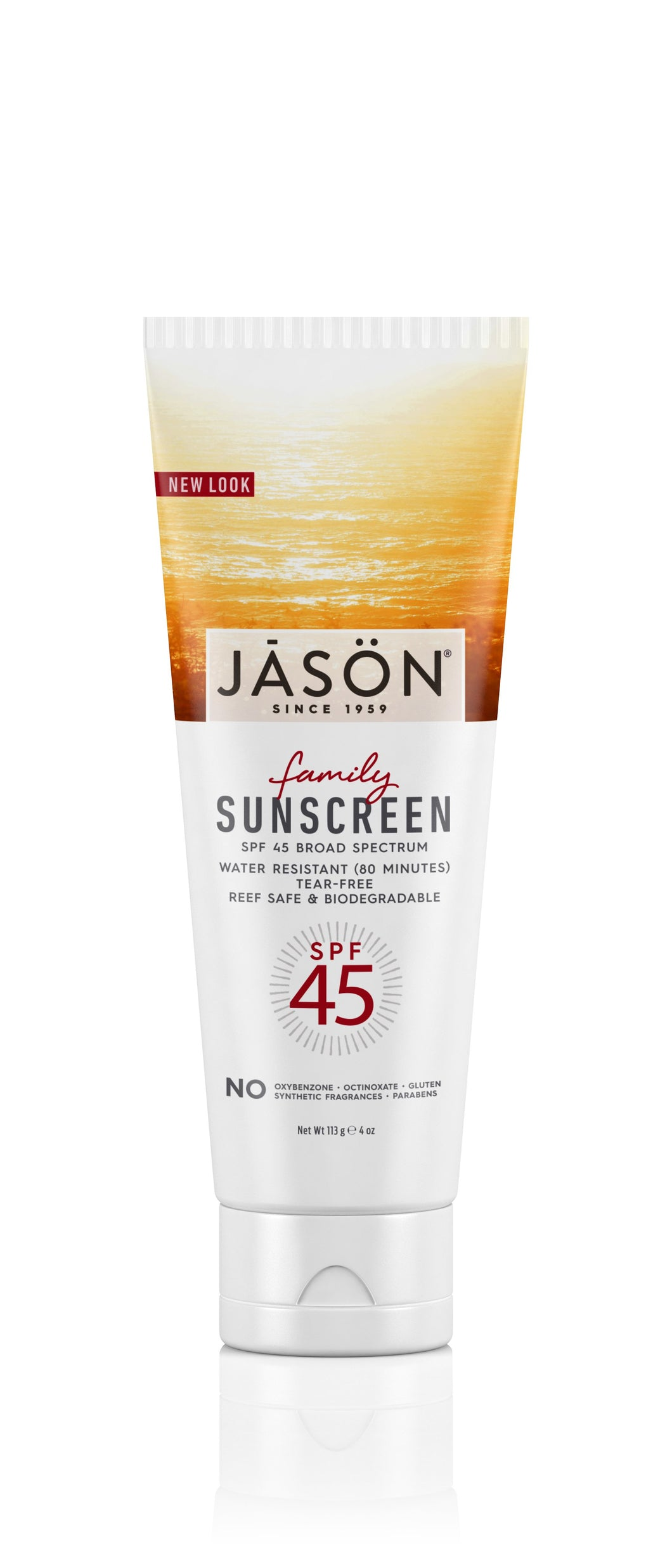 Jasön, Family Sunscreen SPF45, 113 g