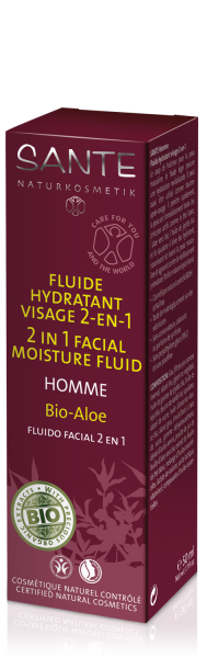 HOMME Facial Moisture Fluid 2 in 1 -- Bio-Aloe 50 ml (4 stk.)