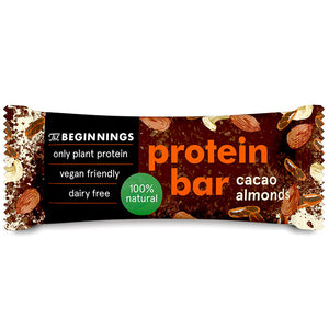 The Beginnings Cacao + Almonds protein bar 40g