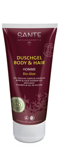 HOMME Body & Hair Shower Gel -- Bio-Aloe 200 ml (4 stk.)