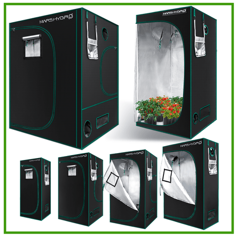 Mars Hydro Indoor Grow Tent Kit Plants Room 1680D High Reflective Mylar Dark Room Box ( 2'x2'x4.5'   8'x8' preorder for US buyers) - Epicledgrowlight