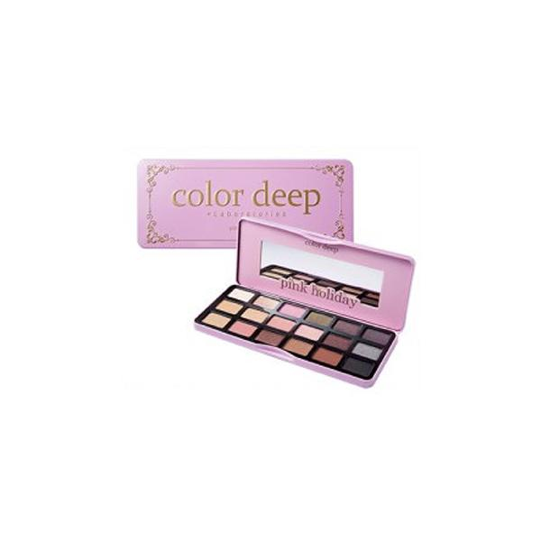 18 Color Eyeshadow Palette (1.3g*18ea)_Pink Holiday Color Deep