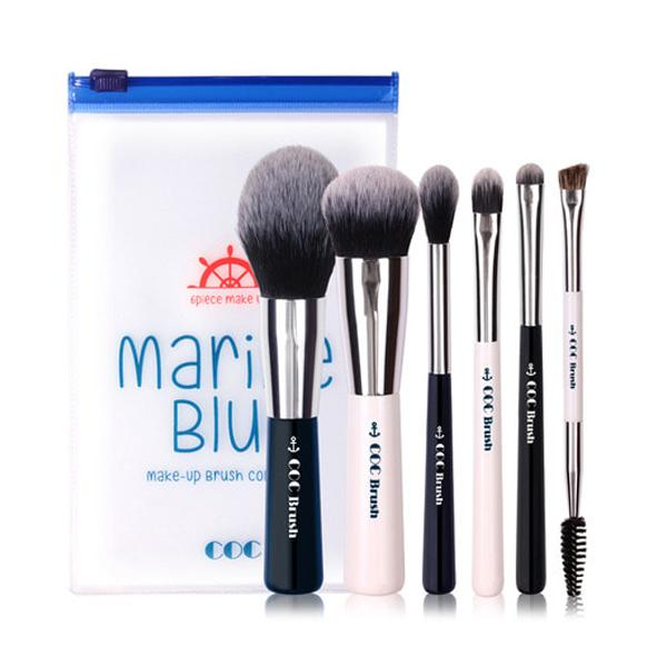 Marine Blue Make-up Brush Set (6p) CORINGCO