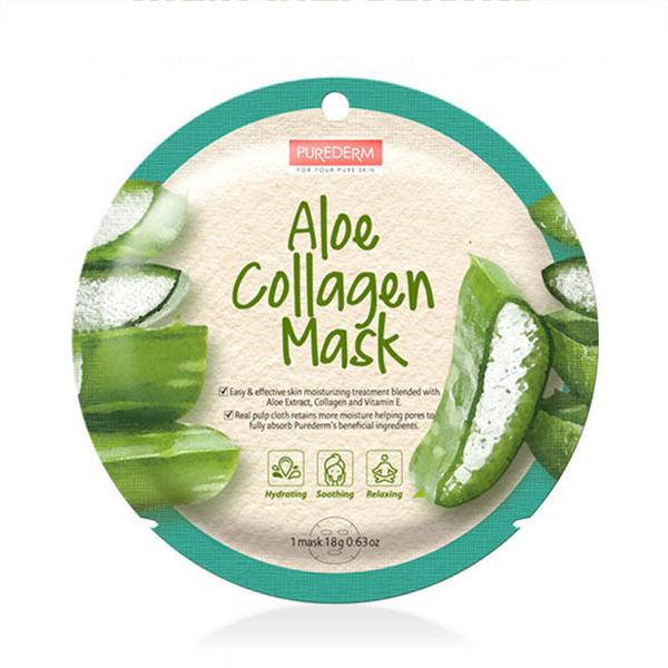 Circle Collagen Mask (1 Sheet) PUREDERM Aloe
