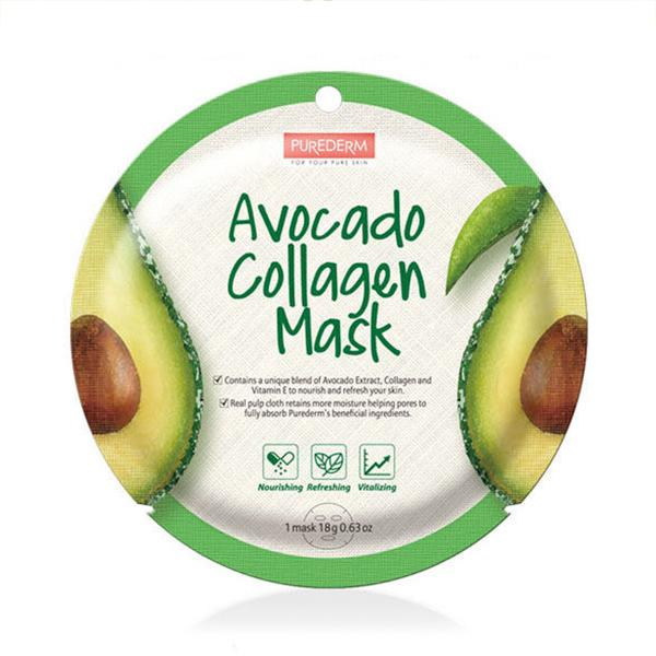 Circle Collagen Mask (1 Sheet) PUREDERM Avocado