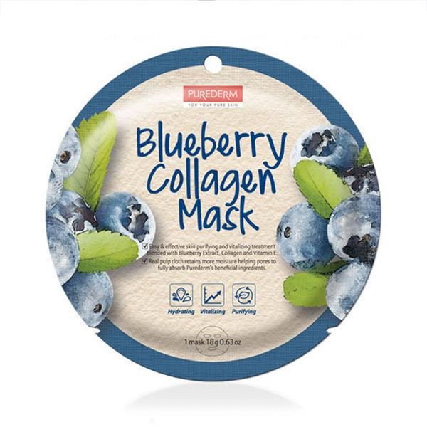 Circle Collagen Mask (1 Sheet) PUREDERM Blueberry