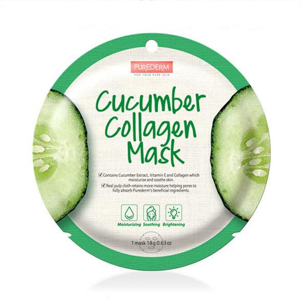 Circle Collagen Mask (1 Sheet) PUREDERM Cucumber