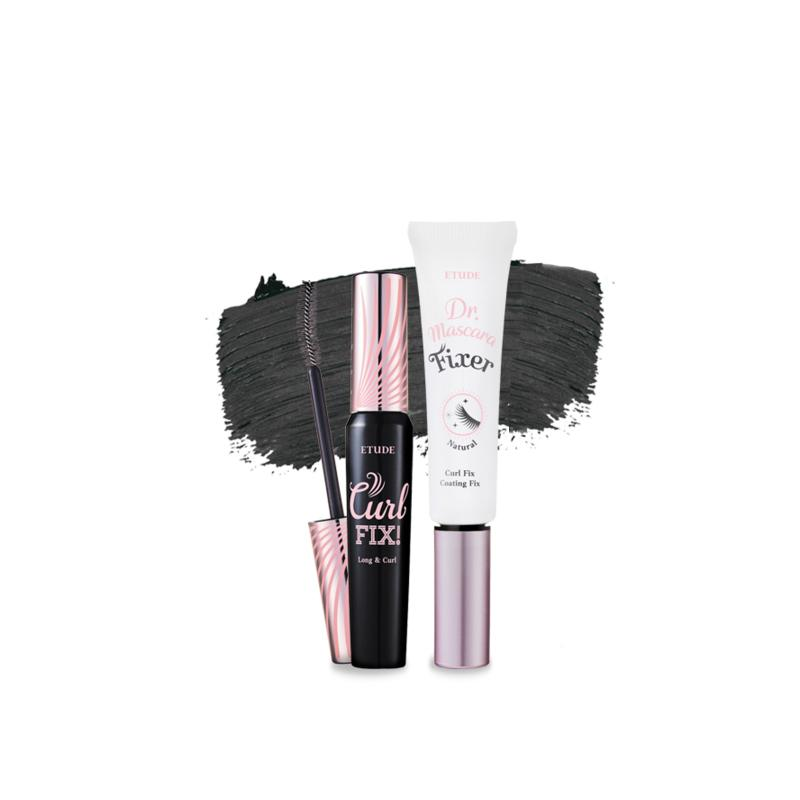 Lash Perm Curl Fix Mascara Long and Curl & Dr.Mascara Fixer Set