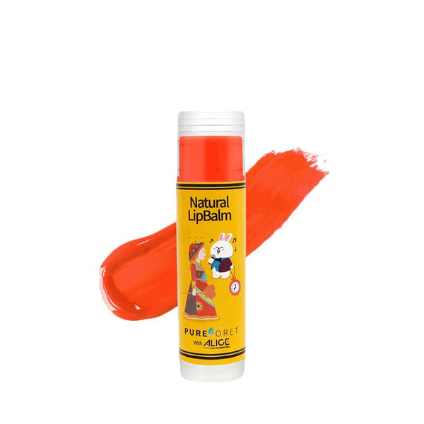 Natural Lip Balm with Alice (4.8g)_Juicy Orange PUREFORET