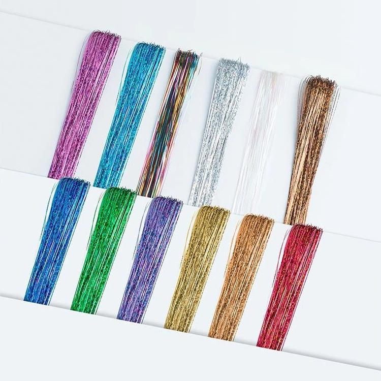 Glitter Hair Tinsel + Hair Pin