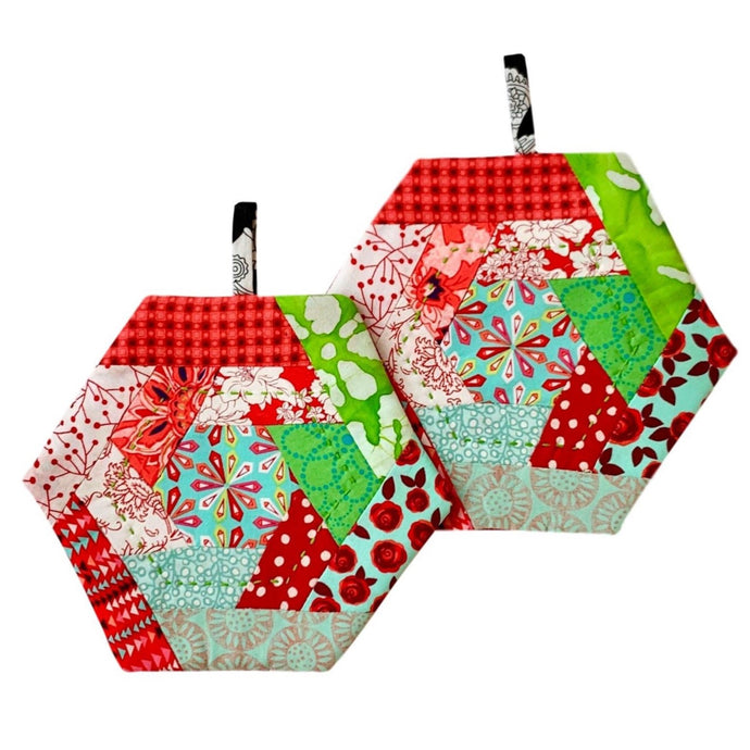 Merry Christmas Pot Holder Set of 2 handmade in Haiti