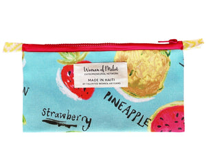 Summer melon zip pouch made in Haiti