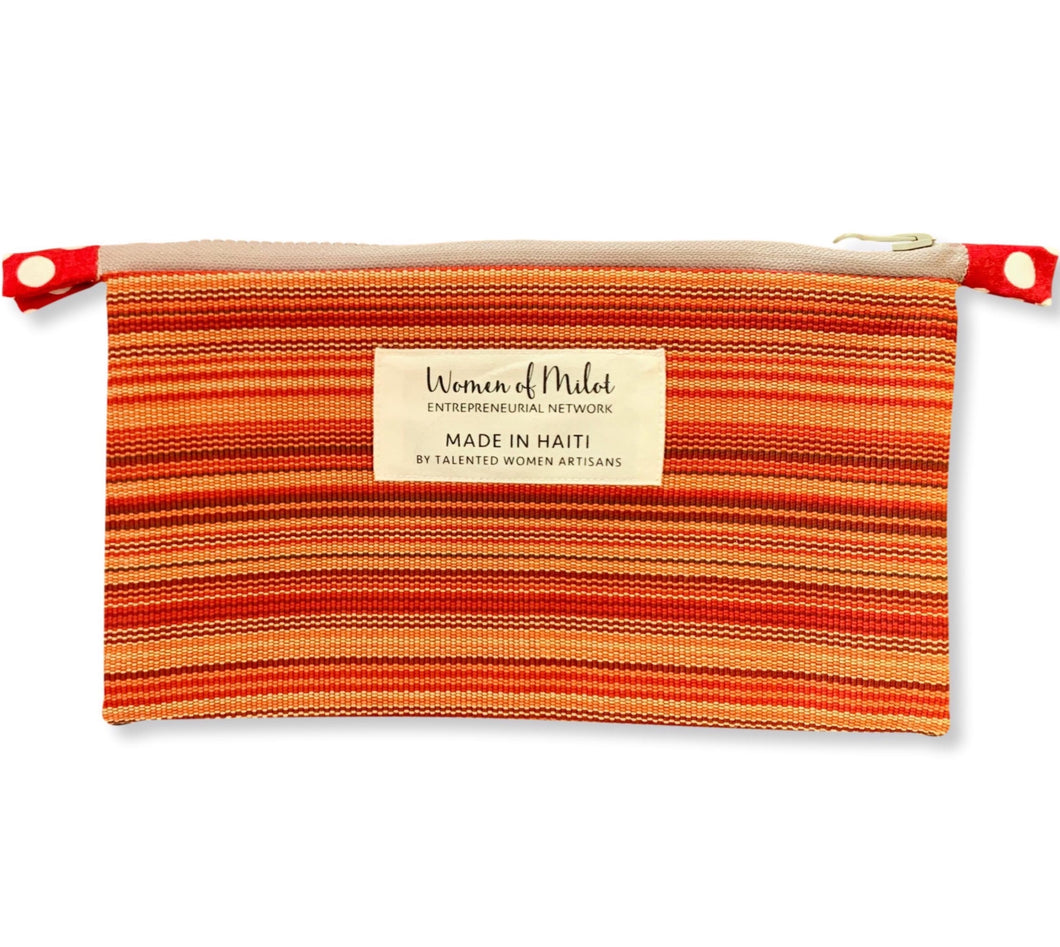 Roberta Zip Pouch Cosmetic Bag made in Haiti
