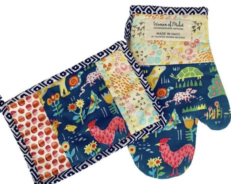 FRIENDS potholder oven mitt set