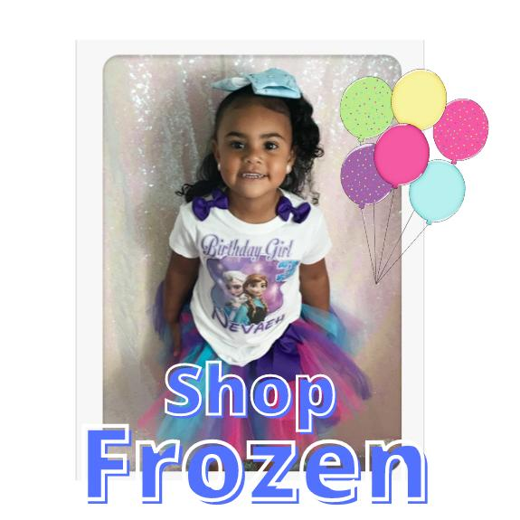 Frozen Birthday Tutu Outfits