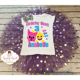 Baby Shark Birthday Tutu Outfit DO DO DO Party Set for Girls