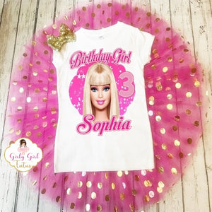 Barbie Birthday Outfit for Girls Personalized Add Name