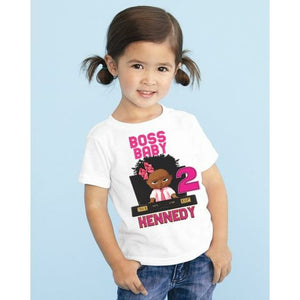African American Boss Baby Birthday T Shirt -