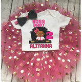 African American Boss Baby Tutu Set 1st 2nd birthday