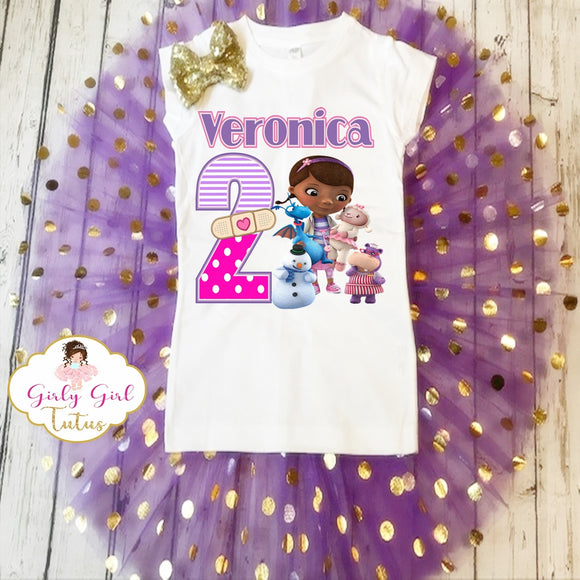 Doc mcstuffins Animal Doctor Birthday Tutu Set