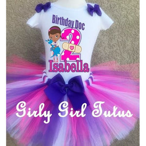 doc mcstuffins pink purple birthday tutu outfit
