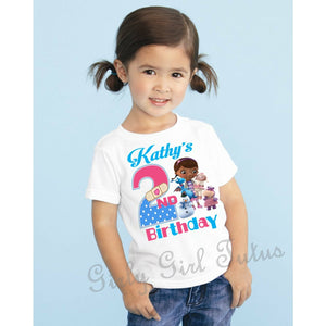 Doc Mcstuffins Personalized Birthday T shirt Custom