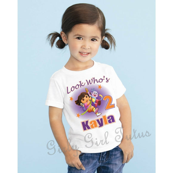 Dora the Explorer Birthday T Shirt Customized with Name