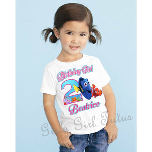 Finding Dory with Nemo Birthday T Shirt Customized with Name