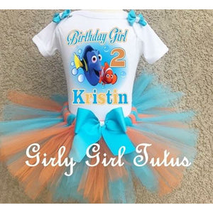 Finding Dory Custom Birthday Outfit Tutu Set Party Dress Set