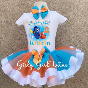 Finding Dory Girl Birthday Tutu Set
