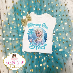 Frozen Elsa Personalized Birthday Tutu Outfit Party Dress Set