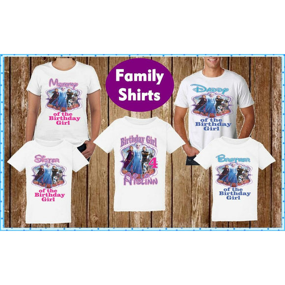 Frozen Family Birthday T Shirts - Frozen Movie 2 Family Shirts