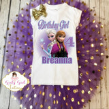 Frozen Elsa and Anna Birthday Outfit Tutu Set - Frozen Outfit